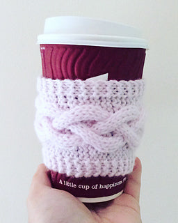 Free Knitting Pattern Cabled Cup Cosy