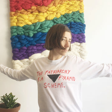 The Patriarchy is a Pyramid Scheme Long Sleeve Tee