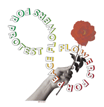 Load image into Gallery viewer, Flowers for Peace Flowers for Protest T-shirt