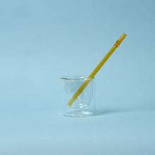 Load image into Gallery viewer, yellow glass drinking straws