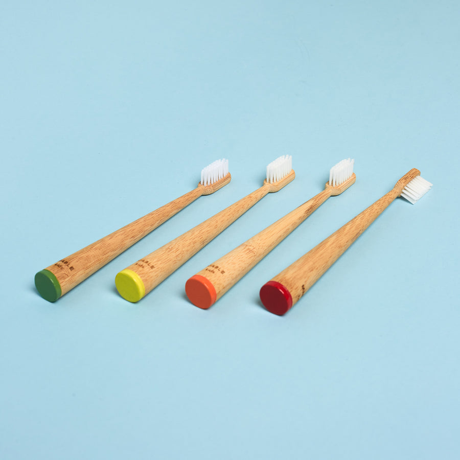 Bamboo Color-Coded Toothbrush