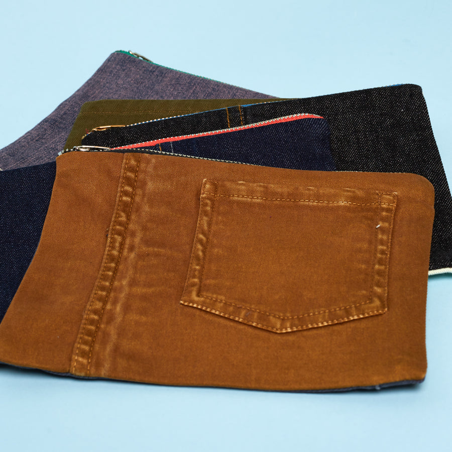Upcycled Denim Pouches