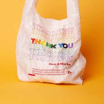 Thank You Rainbow White Tote - Standard + Mini