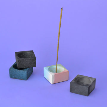 Square Concrete Incense Holder