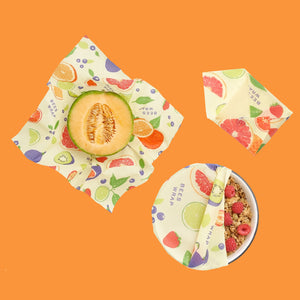 Beeswax Food Wrap Assorted Sizes - 3 pack