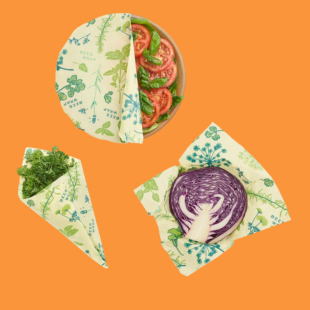 Plant-Based Food Wrap Assorted Sizes - 3 pack