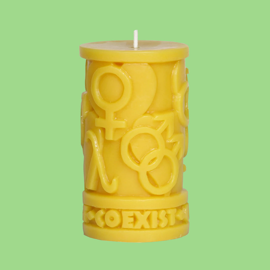 Coexist in Love Candle
