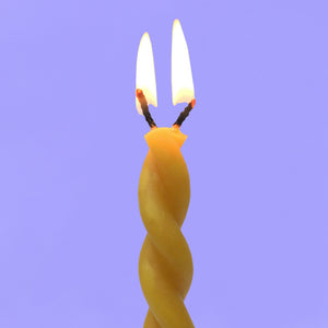 Twin Flame Beeswax Candle