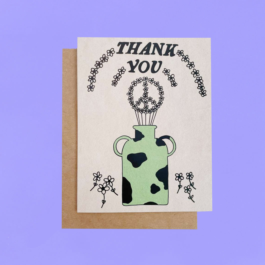 Thank You/Peace Vase Card