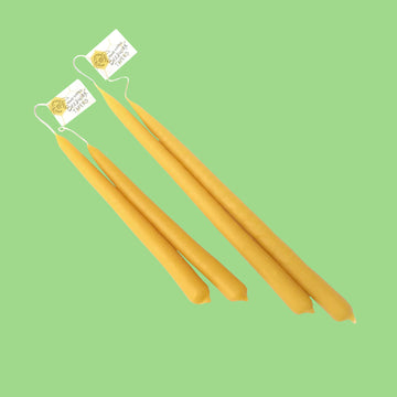 Hand Dipped Beeswax Tapers