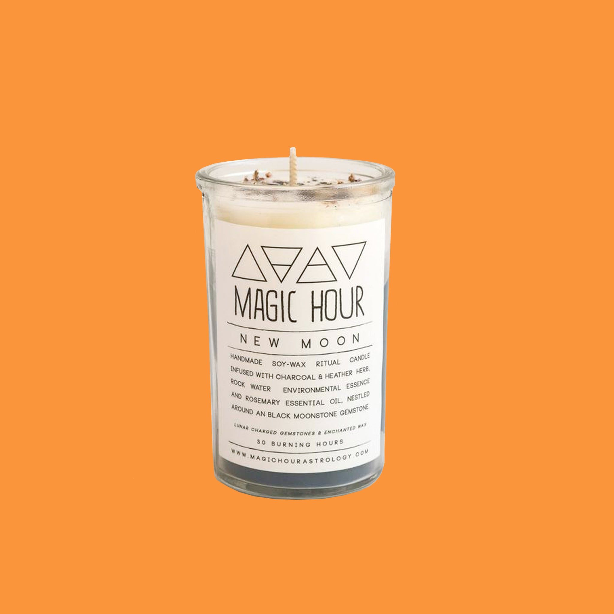 Gem and Herb Infused Aromatherapy Intention Candle