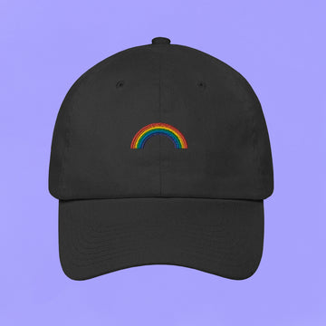 Embroidered Rainbow Baseball Cap