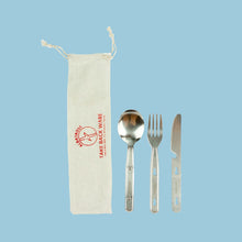 Load image into Gallery viewer, Upcycled Reusable Silverware Set