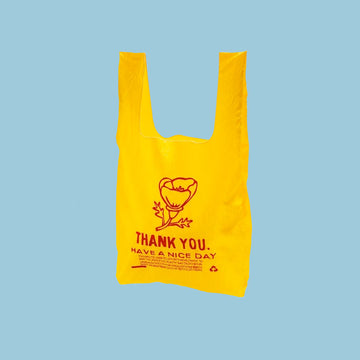 Yellow + Red Poppy Thank You Tote