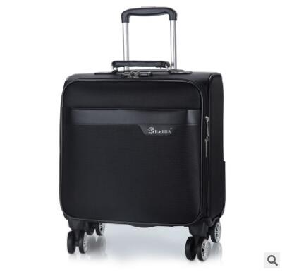 caaf9df763f 18 Inch Men Spinner suitcase for men Travel Trolley Suitcase PU Travel  Rolling baggage bag On