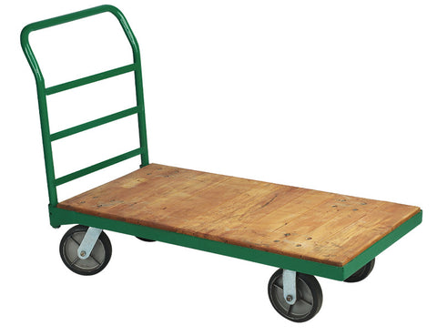 Steel Bound Wood Platform Truck