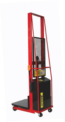 Large Platform Powered Stacker 110V AC Model