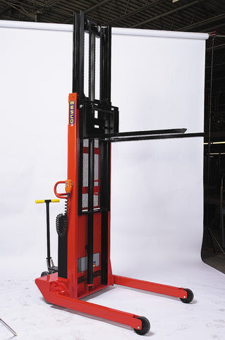 Powered Telescoping Fork Stacker 110V AC Model
