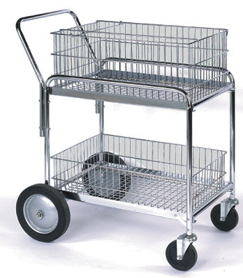 Wire Basket Office Cart
