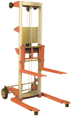 Hand Winch Lift: 400 lbs, Adjustable Straddle