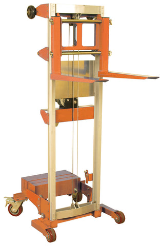 Hand Winch Lift: 400 lbs, Counter-balance Straddle