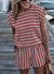 Summer Back Tie Elasticised Waist Stripe Playsuit