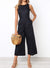 Round Neck Side Pockets Jumpsuit