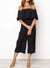 Off Shoulder Elasticised Waist Jumpsuit