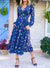 Side Pockets Floral Maxi Dress