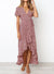 Ruffle Cap Sleeve Wrap Maxi Dress