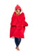 Red Oversized Comfortable Blanket Sweatshirt