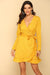 Yellow Downtown Studio Wrap Mini Dress