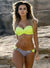 Women's Striped Underwire Top Bikini Bottom Swimwear