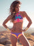 Women's High Neck Bohemian Printed Bikini Set