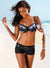 Women's Underwire Top Boy Short 2 Piece Bikini Set