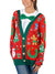 Christmas Cardigan with Bow Long Sleeve All Over Print Ugly Christmas Shirt