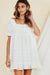 White Travel West Frilled Mini Dress