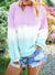 Color Block Tie-Dye Pullover Sweatshirt