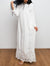 Pure White Lace Pattern Long Dress