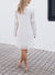 White Long Sleeve Tassels Dress
