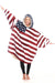 Stars & Stripes Oversized Comfortable Blanket Sweatshirt