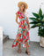 High Low Ruffle Hem Pocketed Tie Maxi Dress