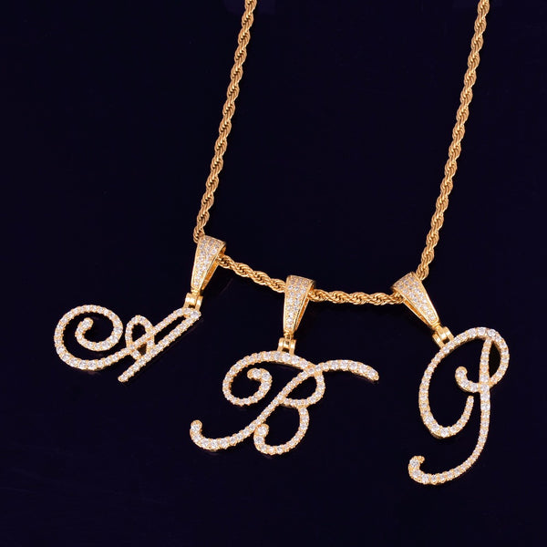 Cursive Charm Necklace