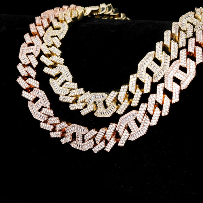 Square Mariner Cuban Link Chain