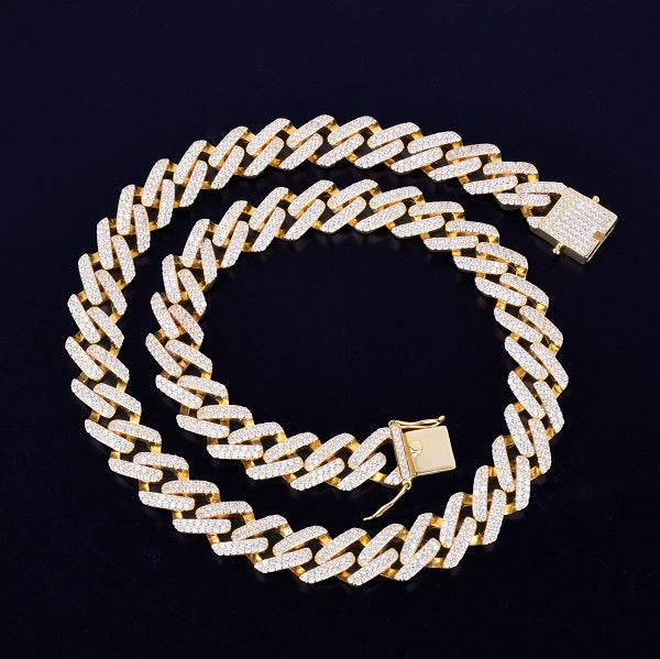 Square Prong Cuban Link Chain