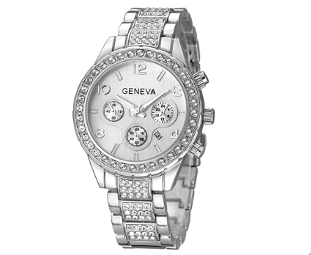 Womens Geneva Crystal Watch