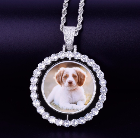 Spinning Photo Pendant