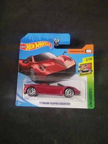 17 Pagani Huayra Roadster Short Card Hot Wheels
