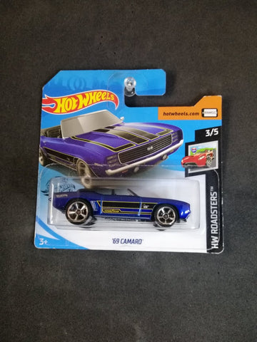 69 Camaro Short Card Hot Wheels