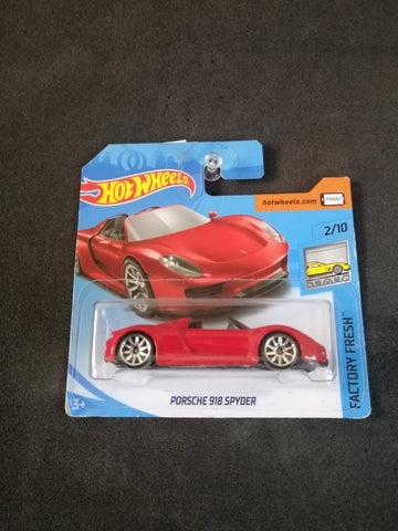 Porsche 918 Spyder Short Card Hot Wheels